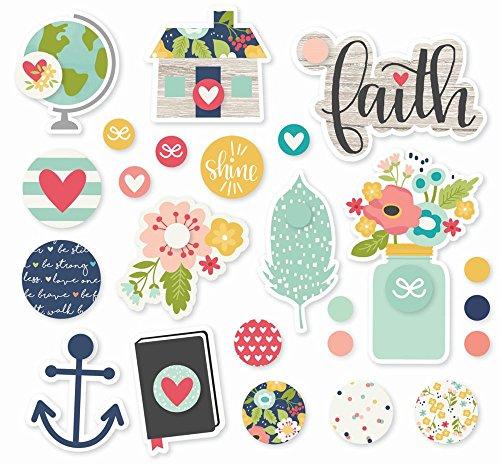 Simple Stories 7722 Faith Decorative Brads -