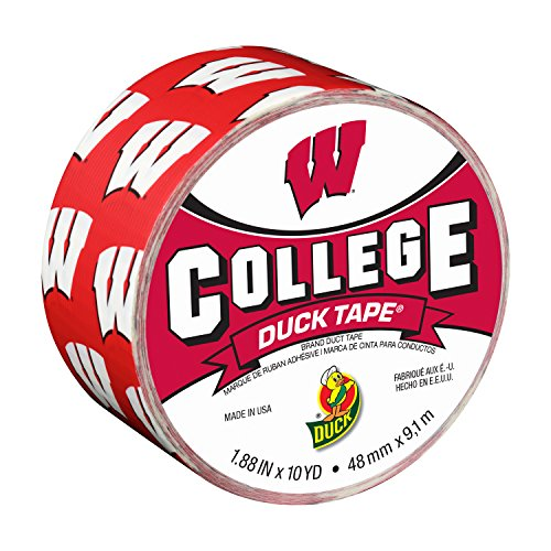 (Duck Brand 241408 University of Wisconsin College Logo Duct Tape, 1.88-Inch by 10 Yards, Single)