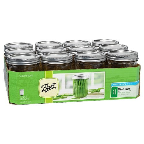 Ball Wide Mouth Pint Jars, 12 count (16oz - 12cnt)