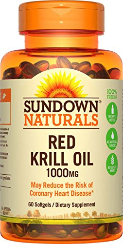 Sundown Naturals Triple Strength Red Krill Oil 1000 mg, 60 Softgels by Sundown Naturals
