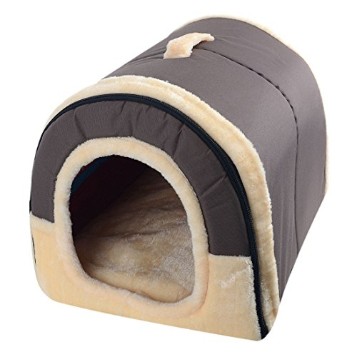 Jiyaru Warm Pet Puppy House Bed Kennel Plush Dog Cat Kitten Pet Bed Cave #3 L