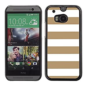 Graphic4You Color Stripes Pattern Design Hard Case Cover for HTC One (M8) (Tan)