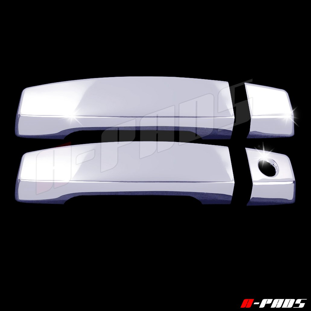 A-PADS 2 Chrome Door Handle Covers for Nissan ARMADA & TITAN 2004-2015 - WITHOUT Passenger Keyhole