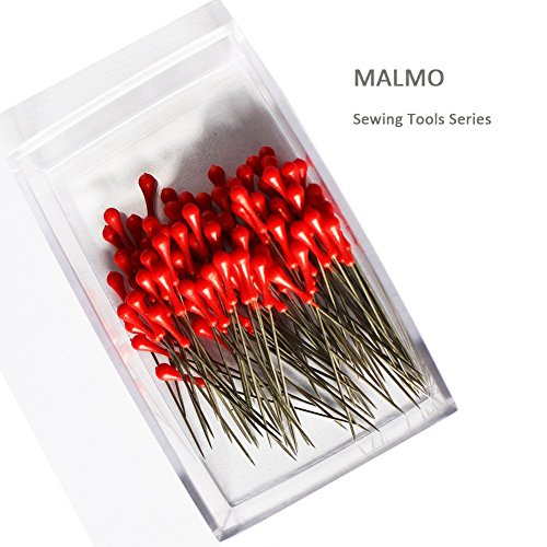 100pcs-red-head-silver-straight-pins-in-a-box