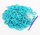 Rainbow Loom Rubber Bands 3000pcs with Crochet Hook and S_clips (Light Blue)