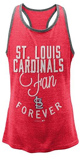 MLB  St. Louis Cardinals Girls 7-16 I'M A Fan Forever Racer Tank-L (14)
