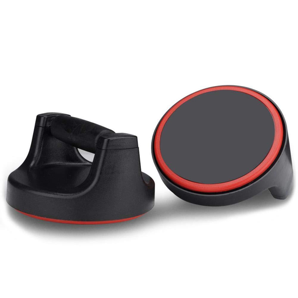 happygirr Soportes para Flexiones, Plegable Rotativo Hombres Músculo Pectoral Formación Casa Brazo Muñeca Ejercicio (Color : Black - Rojo)