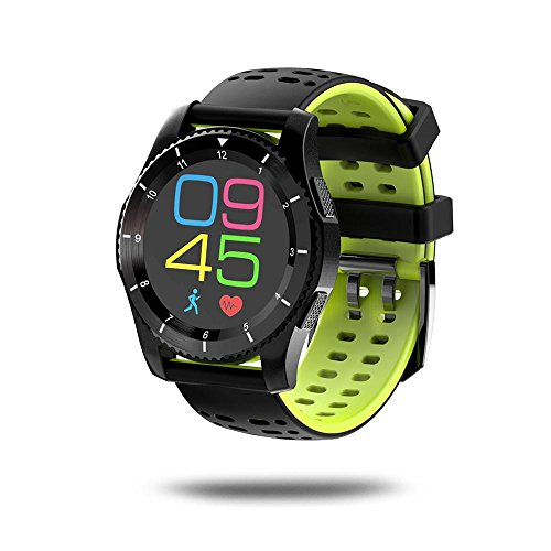 Leegoal(TM) Fashion GS8 Waterproof GPS Smart Watch Blood Pressure Heart Rate Wristwatch Support SIM Card for IOS Android (Green) by Leegoal (Image #5)