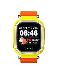 Cewaal Q90 GPS Tracker Sim Card SOS Call Baby Samrt Watch with 1.22 Inch Touch Screen Anti-lost for Kids Safe