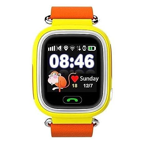 Niños GPS Reloj Inteligente, Fenghong Childrens Smartwatch GPS Tracker gsm Sim Touch Screen Support SOS Llamada Seguimiento de Actividad de Chat de Voz para ...