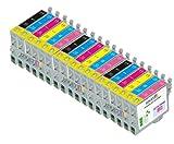 18 Pack Cartridges for Epson Artisan 600, Artisan 700, Artisan 710, Artisan 800 , Artisan 810 (Compatible T098 - T0981 Bk, C, M, Y, Lc, Lm) offers