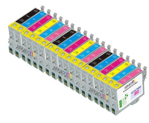 Price comparison product image 18 Pack Cartridges for Epson Artisan 600,  Artisan 700,  Artisan 710,  Artisan 800 ,  Artisan 810 (Compatible T098 - T0981 Bk,  C,  M,  Y,  Lc