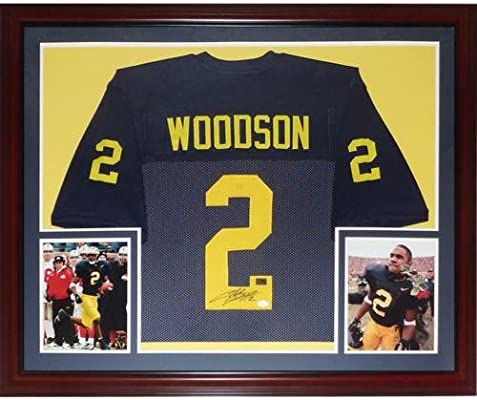 brand new 5d51a bd5f5 Charles Woodson Autographed Michigan Wolverines (Blue #2 ...
