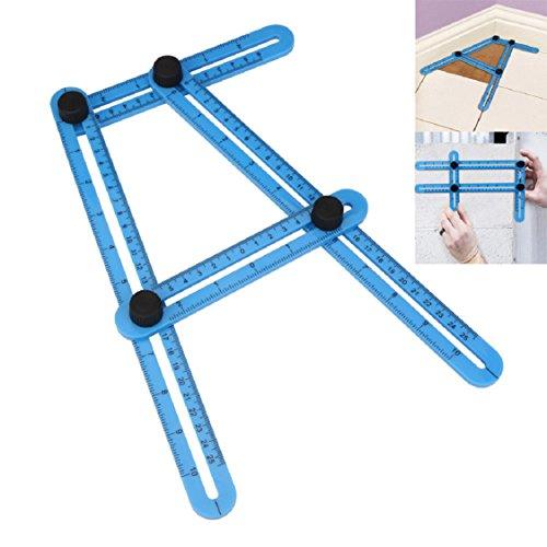 Folding Rule,Ikevan Hot Selling 2017 New Multifunctional Angle Model Angle Ruler Plastic Measuring Tool Blue