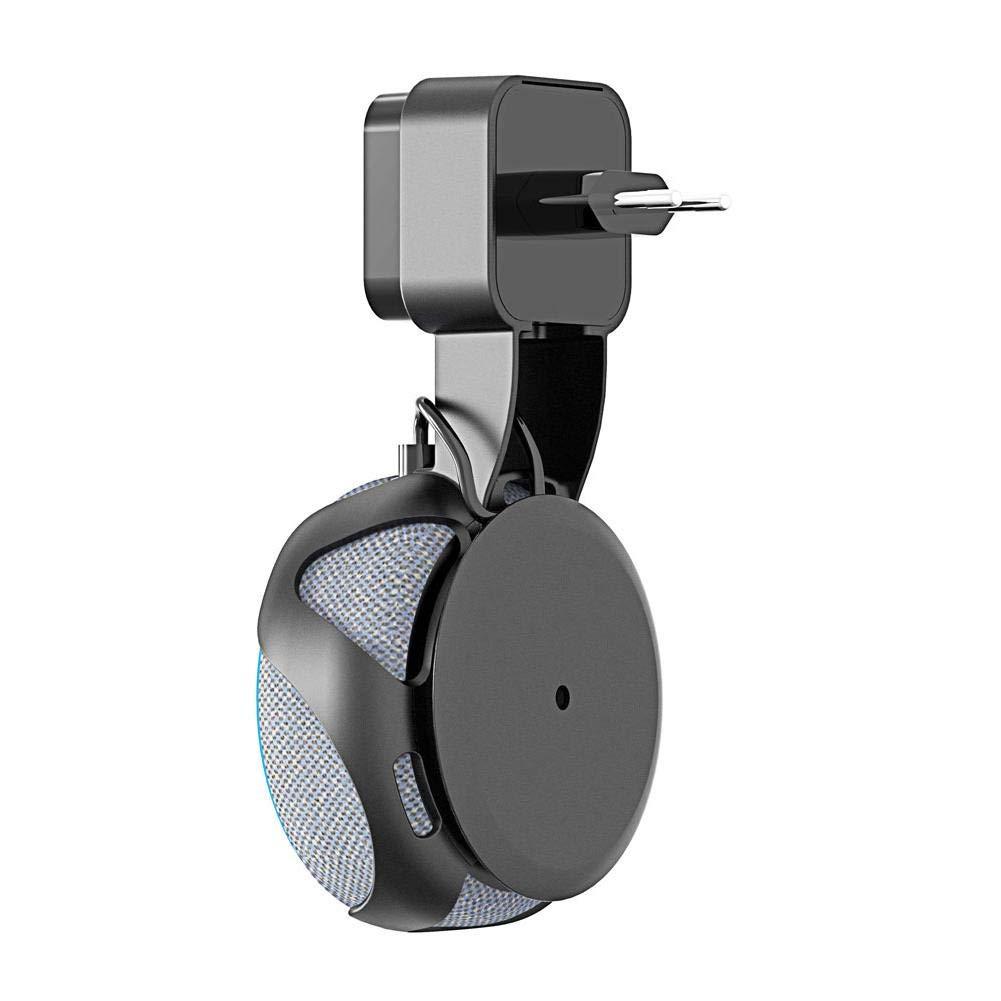 Outlet Wall Mount Holder Hanger Stand for  Alexa Echo Dot 3rd Gen, AC Adaptor Wire Hidden Saving Space for Your Smart Home Speakers in Living Room Kitchen Bedroom Bathroom Carport
