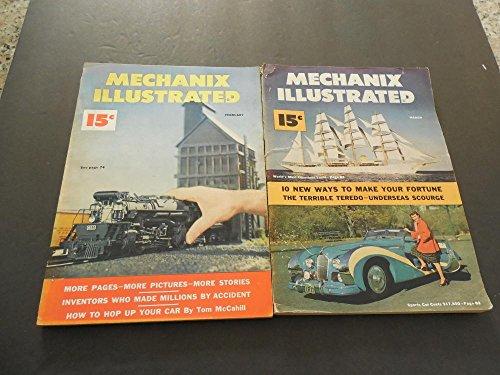 2-issues-mechanix-illustrated-feb-mar-1950-model-trainsluxury-yacht