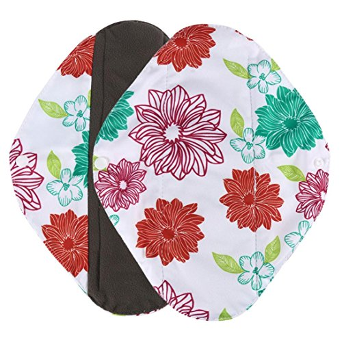 DZT1968 1pc Reusable Bamboo Cloth Washable Menstrual cost-effective Pad Mama Sanitary Towel Pad (M, green)
