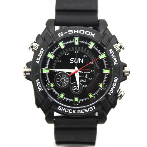 Flylinktech 1080p Spy Camera Watch Full HD 8GB Waterproof Camera Watch with...