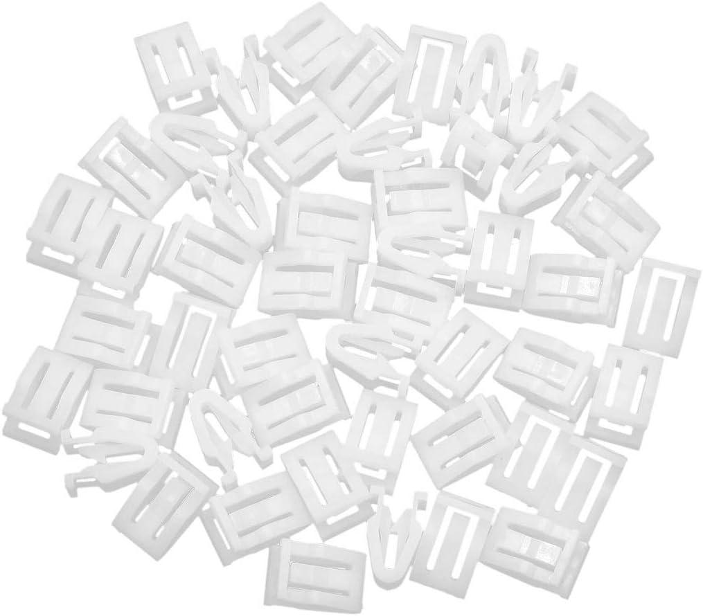 sourcing map 50 unids Universal Coche Blanco retenedor Panel de Consola Panel Clip Sujetador Interior