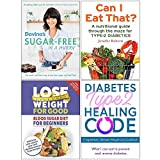 Davina's Sugar-Free in a Hurry, Can I Eat That, Blood Sugar Diet For Beginners, Diabetes Type 2 Healing Code 4 Books Collection Set