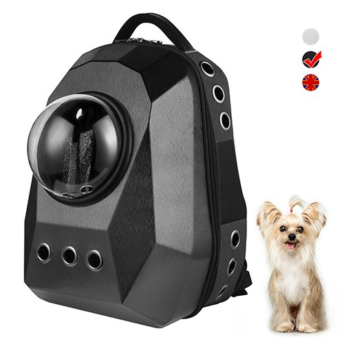 ویکالا · خرید  اصل اورجینال · خرید از آمازون · Blitzwolf Large Capacity Diamond Space Capsule Pet Carrier Backpack with Three Replaceable Windows, 16 Air Vent Holes Outdoor or Traveler Waterproof Knapsack for Cats Dogs & Petite Animals-Black wekala · ویکالا