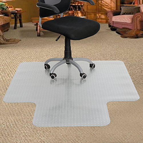 ZENY Home Office Chair Mat with Lip for Carpet Floor, 60'' X 48'', Office Computer Desk Chair Mat,Home Office Floor Protection,Clear PVC Carpet Mat, Thickness 0.12''(60x48 inches) by ZENY