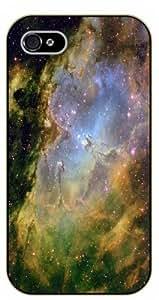 iPhone 4 / 4s Nebula - black plastic case / Space, star, stars