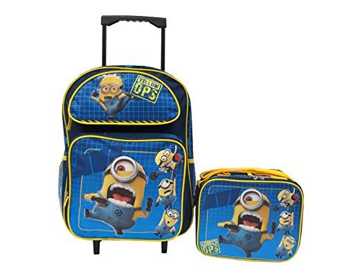 Despicable Me 2 Minions Large 16 Rolling Backpack Roller School Bag & Lunch Box by phenomenon2020