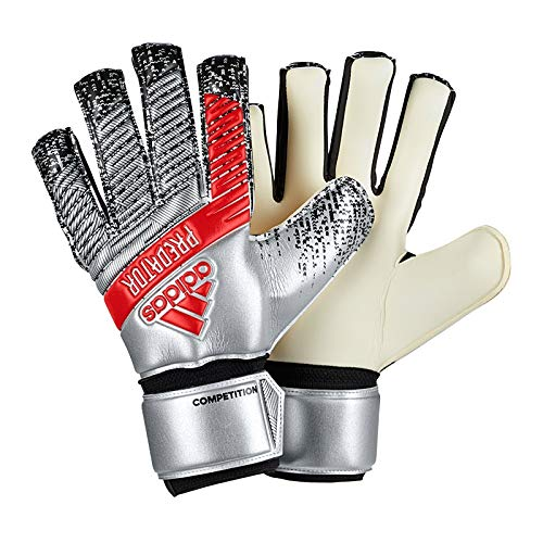 adidas Adult Predator Competition Soccer Goalkeeper Gloves , Silver Metallic/Black  , 8 (Predator Keeper Gloves)