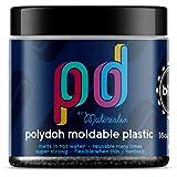 Polydoh moldable plastic 16oz tub (black) [polymorph, plastimake]