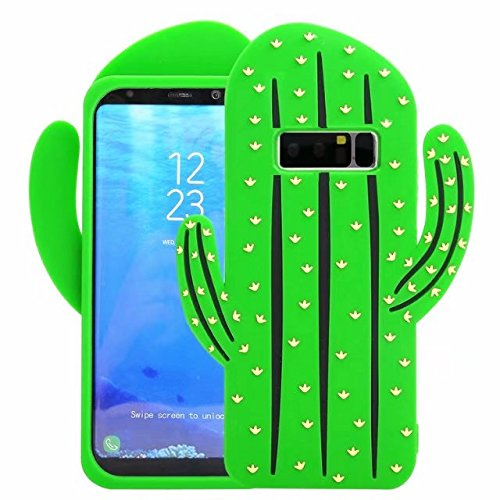 Cute 3D Cartoon Silicone Galaxy Note 8 Case, Adorable Animals Cartoon Characters Design Soft Rubber Cover for Samsung Galaxy Note 8 2017 Release 6.3