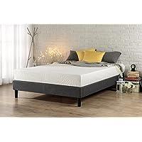 Zinus Curtis Essential Plataforma para cama con plataforma /base de colchón /No se necesita caja de resorte /Soporte de listones de madera, reina