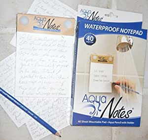 Aqua Notes - Waterproof Notepad 40 Sheet Mountable Pad
