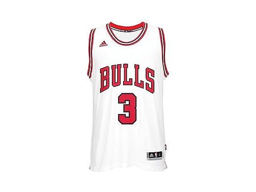 adidas CC2543 T Shirt Chicago Bulls für Basketball für Herren, Mehrfarbig (NBA Chicago Bulls 2 328)