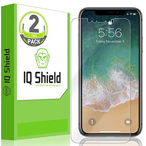 IQ Shield Screen Protector Compatible with Apple iPhone Xs Max (6.5 inch)(2-Pack)(Max Coverage) LiquidSkin Anti-Bubble Clear Film