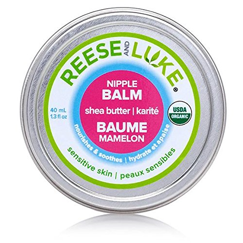 Reese and Luke's - Shea Butter Nipple Balm, 1.3 fl oz, Unscented -- Skin Lotion - Natural Certified Organic
