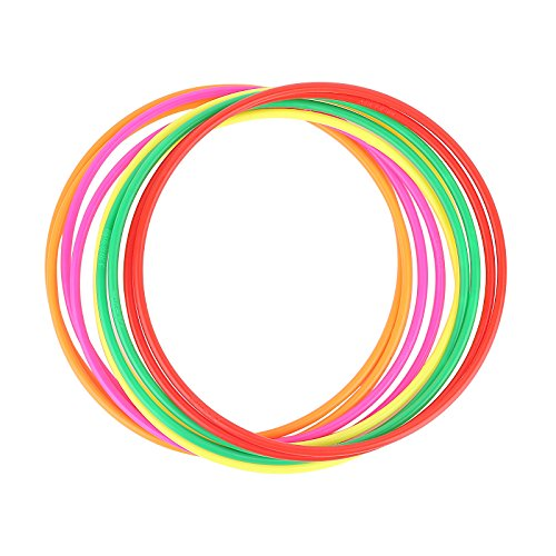 Crystallove 12pcs Plastic Random Color Toss Rings for Carnival Garden Backyard Outdoor Games (9.4 ()