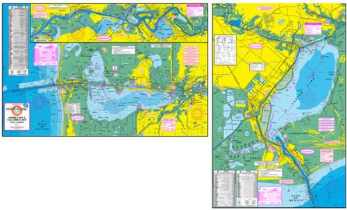 Sabine/Calcasieu Lake Chart Water Proof by Hook-N-Line Map Co