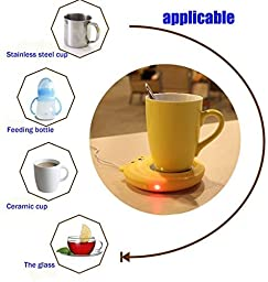 E-Bro New Bear Portable USB Electronic Warmer Coffee Milk Tea Cup Heating Pad Plate (Yellow)