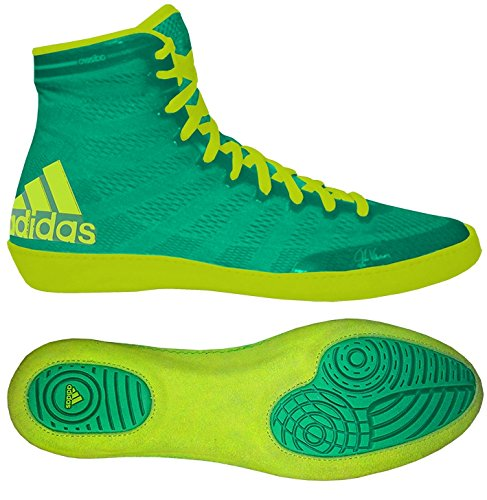 adidas Adizero Varner Wrestling Shoes - Flash Lime/Solar Yellow - 8