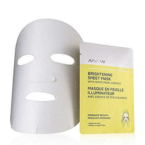 Avon Anew Brightening sheet mask with white pearl essence box 4 single sheet