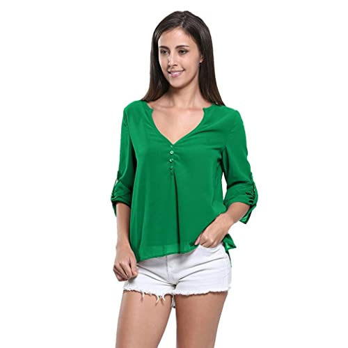 Camiseta de verano para mujer, RETUROM Blusa de Gasa camiseta casual mujeres