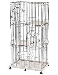 IRIS 3-Tier Wire Pet Cage, Gray