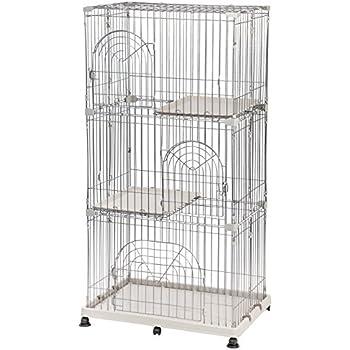 Amazon.com : IRIS 3-Tier Wire Pet Cage, Gray : Pet Cages : Pet Supplies