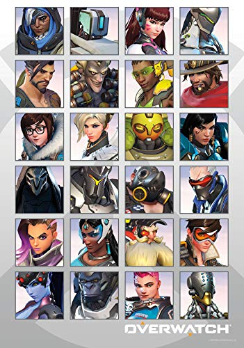 Trends International 8.25x11.75 MDF - Overwatch - Portraits Wall Poster, 8.25' x 11.75' x .197', Multi