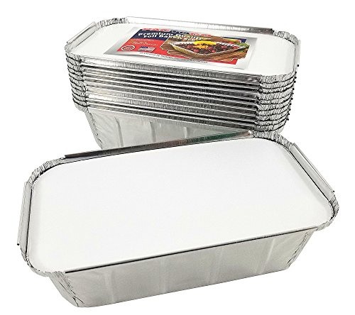 Pactogo 1 1/2 lb. IVC Disposable Aluminum Foil Loaf Bread Pan w/Board Lid (8'' x 4.1'' x 2.2'') - Heavy Duty Made in USA (Pack of 50 Sets) by PACTOGO (Image #6)'