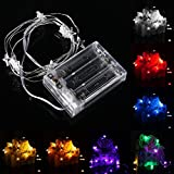 Lights & Lighting - 1m 10 Led Battery Powered Star String Fairy Light For Chirstmas Party Weddinng Decor - Curtain Lights Light String Star Window Fairy Decoration Bedrooms - For - 1PCs