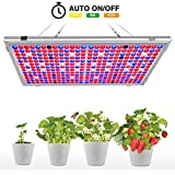 Bozily Led Grow Lights for Indoor Plants, 300W Full Spectrum Grow Light with 90 Degrees Reflector, 16-Band and 338 LED, Auto On/Off Timer for Veg and Flowers Seedling Growing Blooming Fruiting