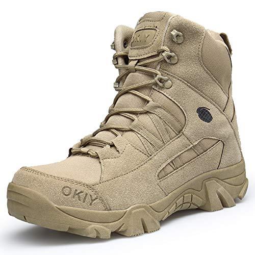 AONEGOLD Hommes Bottes de Randonnée Tactiques Militaires de Combat Bottes Chaussures de Trekking extérieures Respirantes… 1