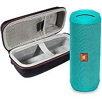 JBL Flip 4 Waterproof Portable Bluetooth Speaker & Protective Travel Case Bundle (Teal)